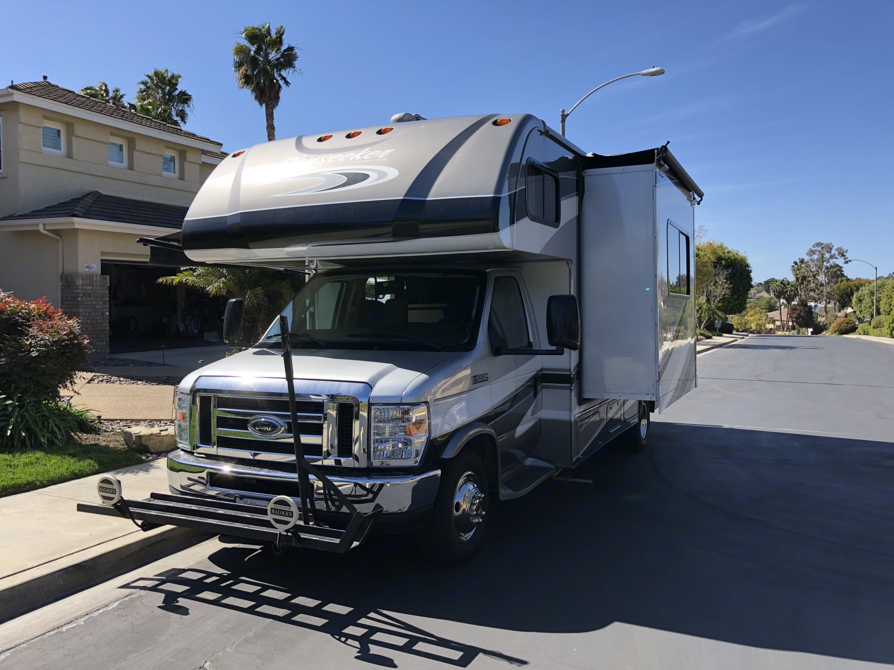 Front view showing pop out . Forest River Sunseeker 2014