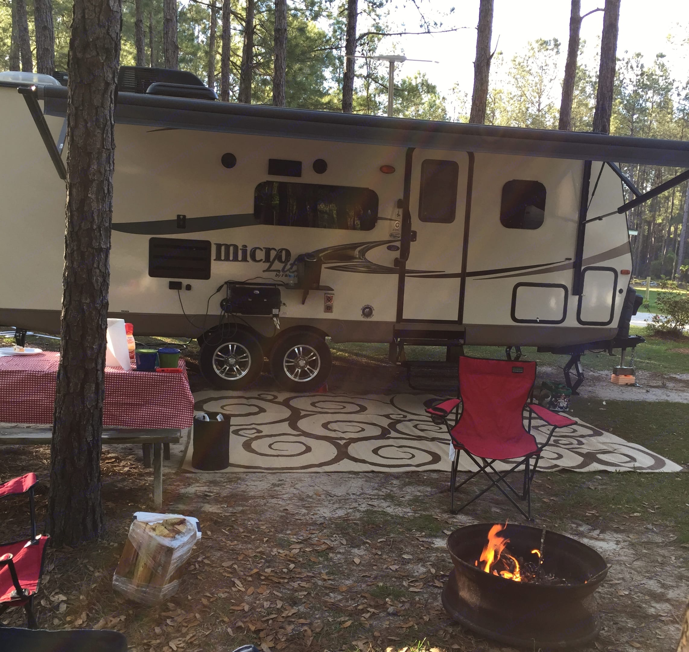 camping at Jellystone Park in Elberta, Alabama. Forest River Micro-Lite 2016