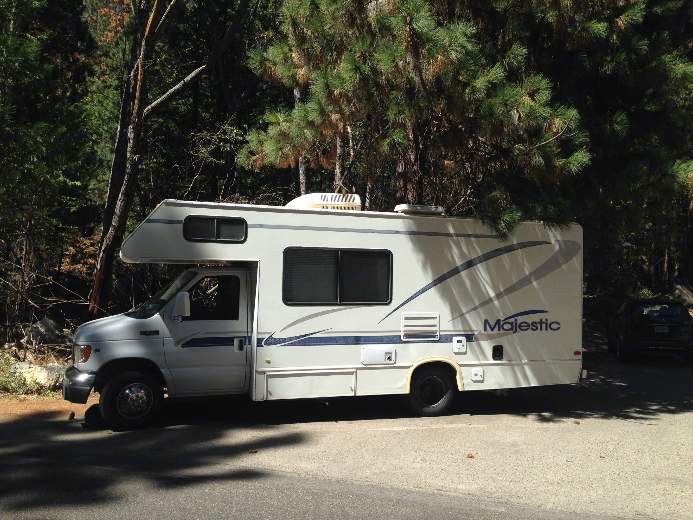 This is my happy place.  Has everything i need.  I do national parks and cross country trips with this.  Always mets my needs.  Easily handled the crazy roads of Kings Canyon National Park and Sequoia Nation Park.   I could go on..... Thor Motor Coach Four Winds Majestic 2000