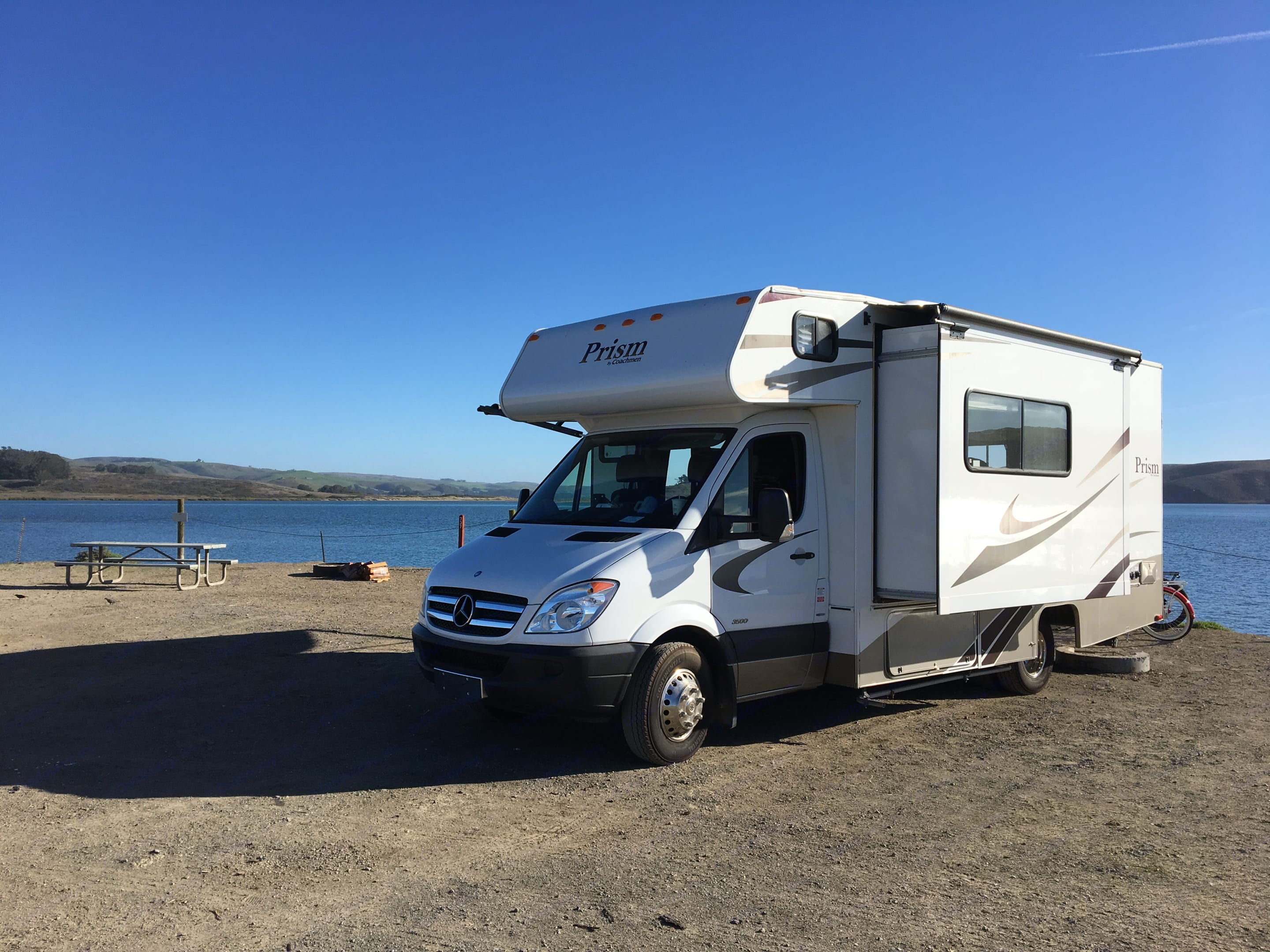 This is our fun family RV! We invite you to enjoy it as we do on our vacations! The floorplan is amazing, sleeps 4-5, and has every amenity you can ask for! . Coachmen Prism 2014