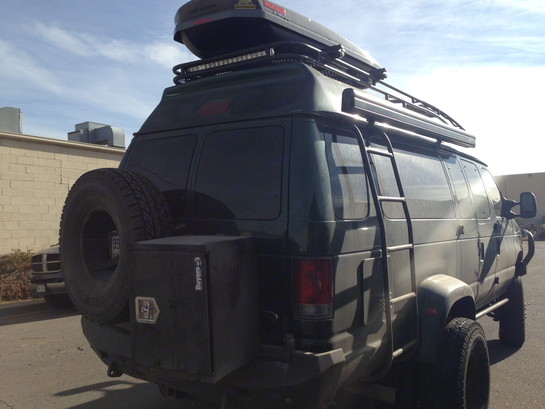 Dually back exterior; extra cargo space. Ford E350 Custom Off-road Conversion 2010
