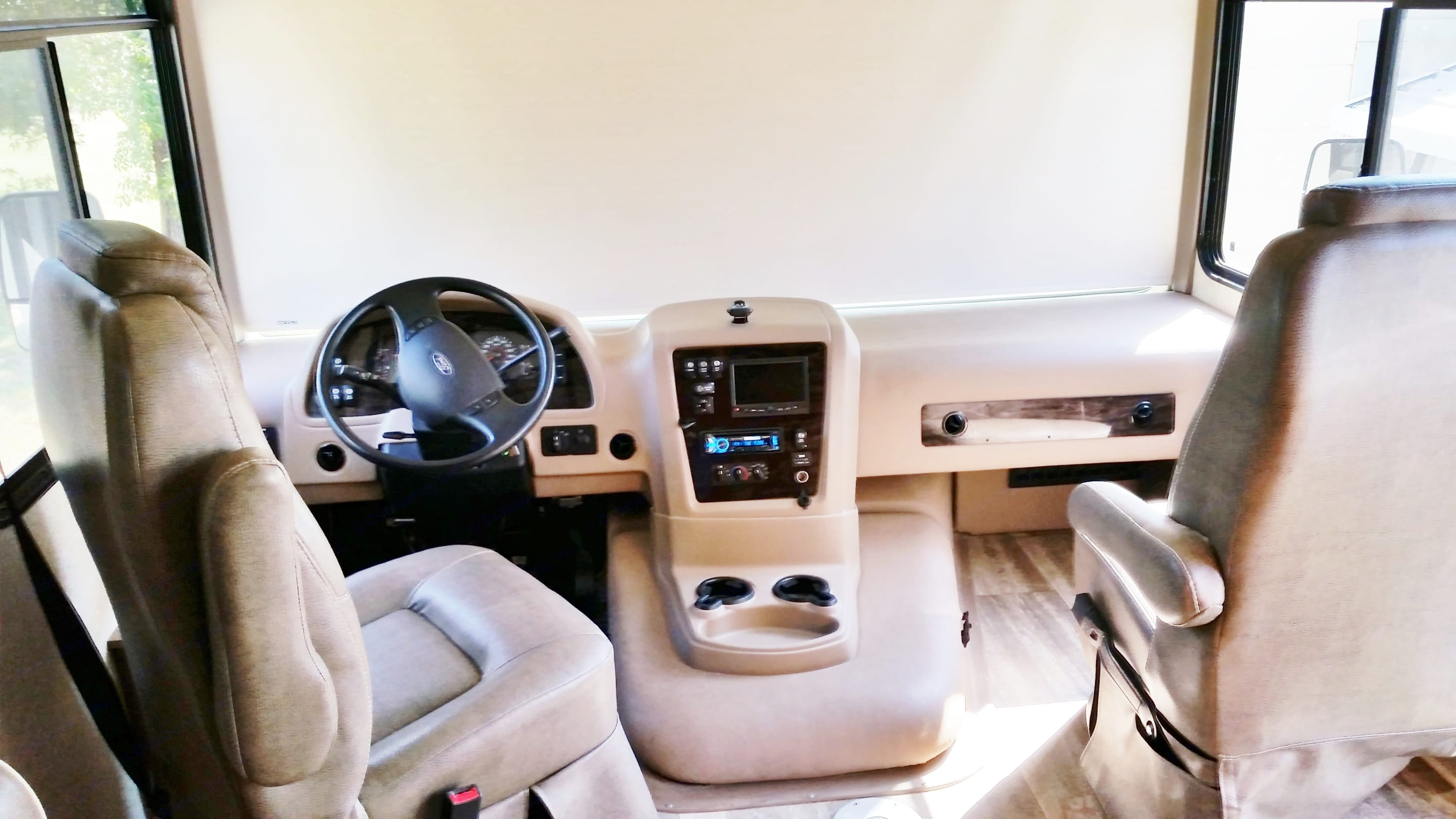 Front console & driver area. Forest River Georgetown 2015