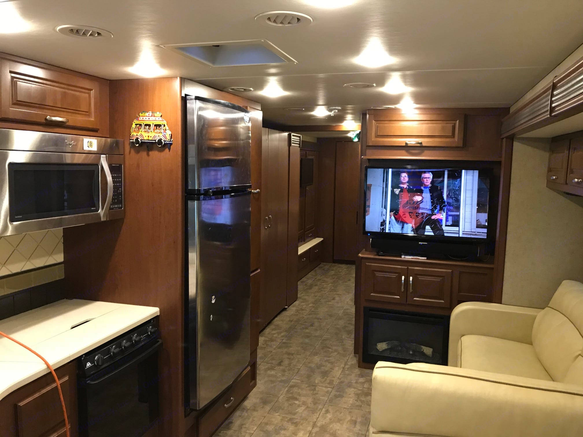 Spacious living area and kitchen. Thor Motor Coach Challenger 2015