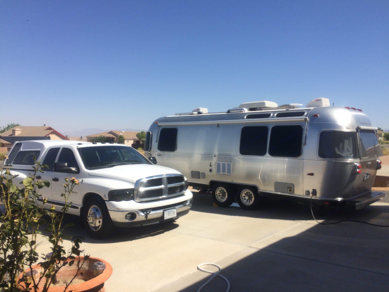 Soaking up some solar in AZ. Airstream International 2010