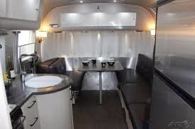 Kitchen, living room. Converts to bed to sleep up to 4 people. Airstream International 2010
