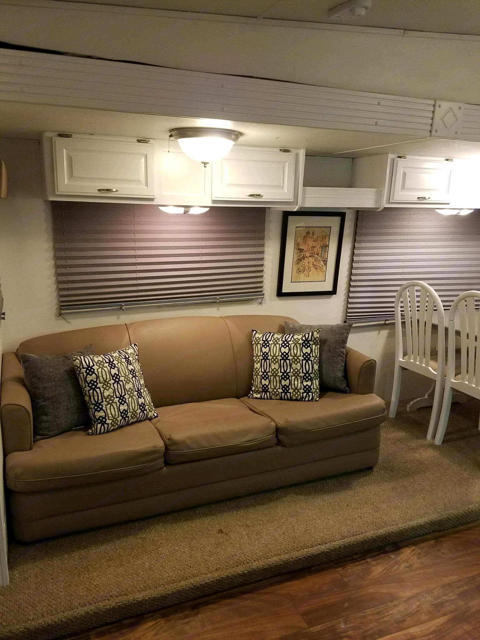 Fold out couch bed. Airstream Sea Hawk 1998