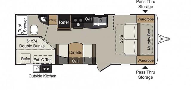 The spacious floor plan allows for delightful indoor and outdoor living. Keystone Passport 2018