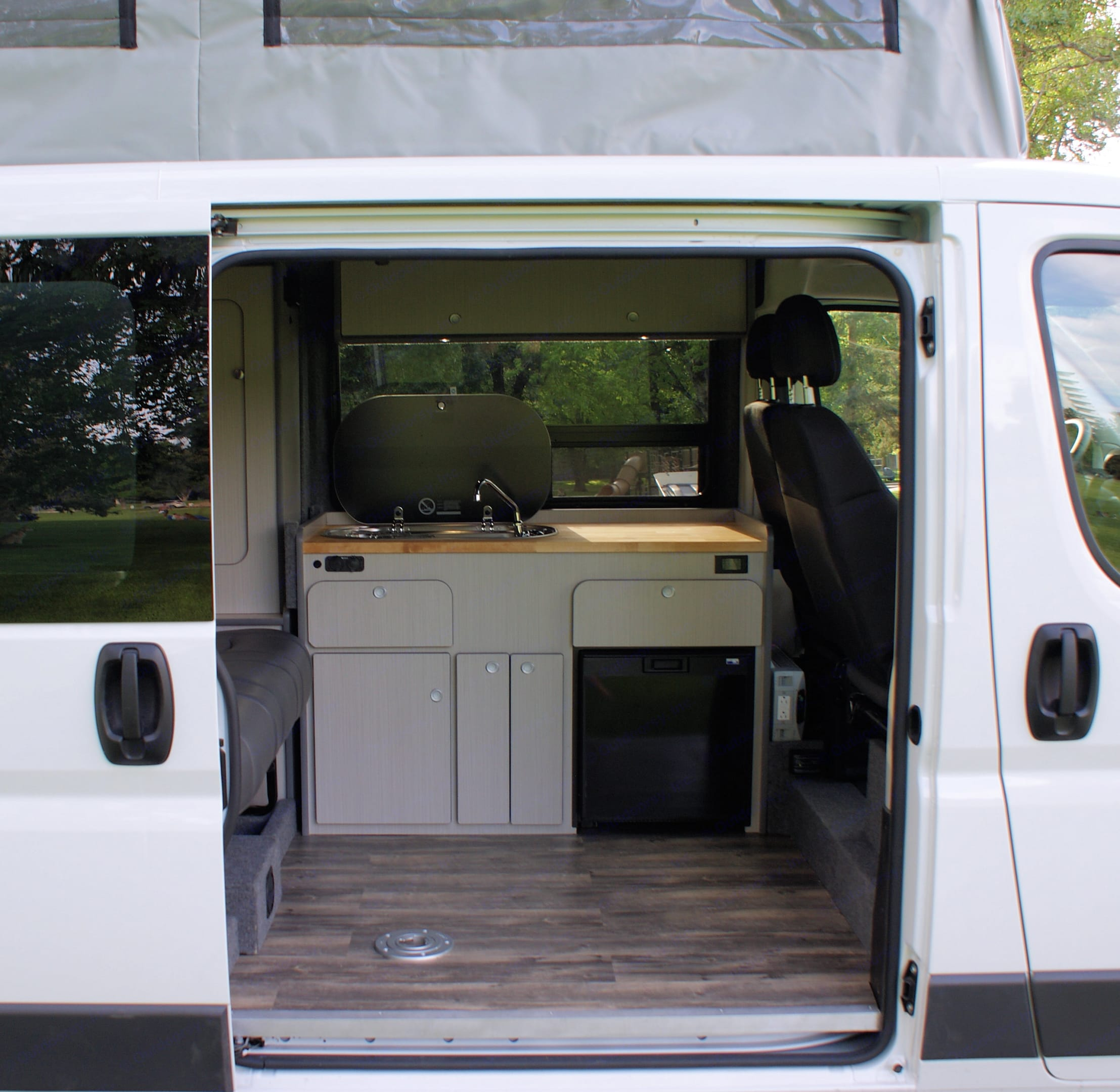 View of Galley. Dodge Promaster 2017