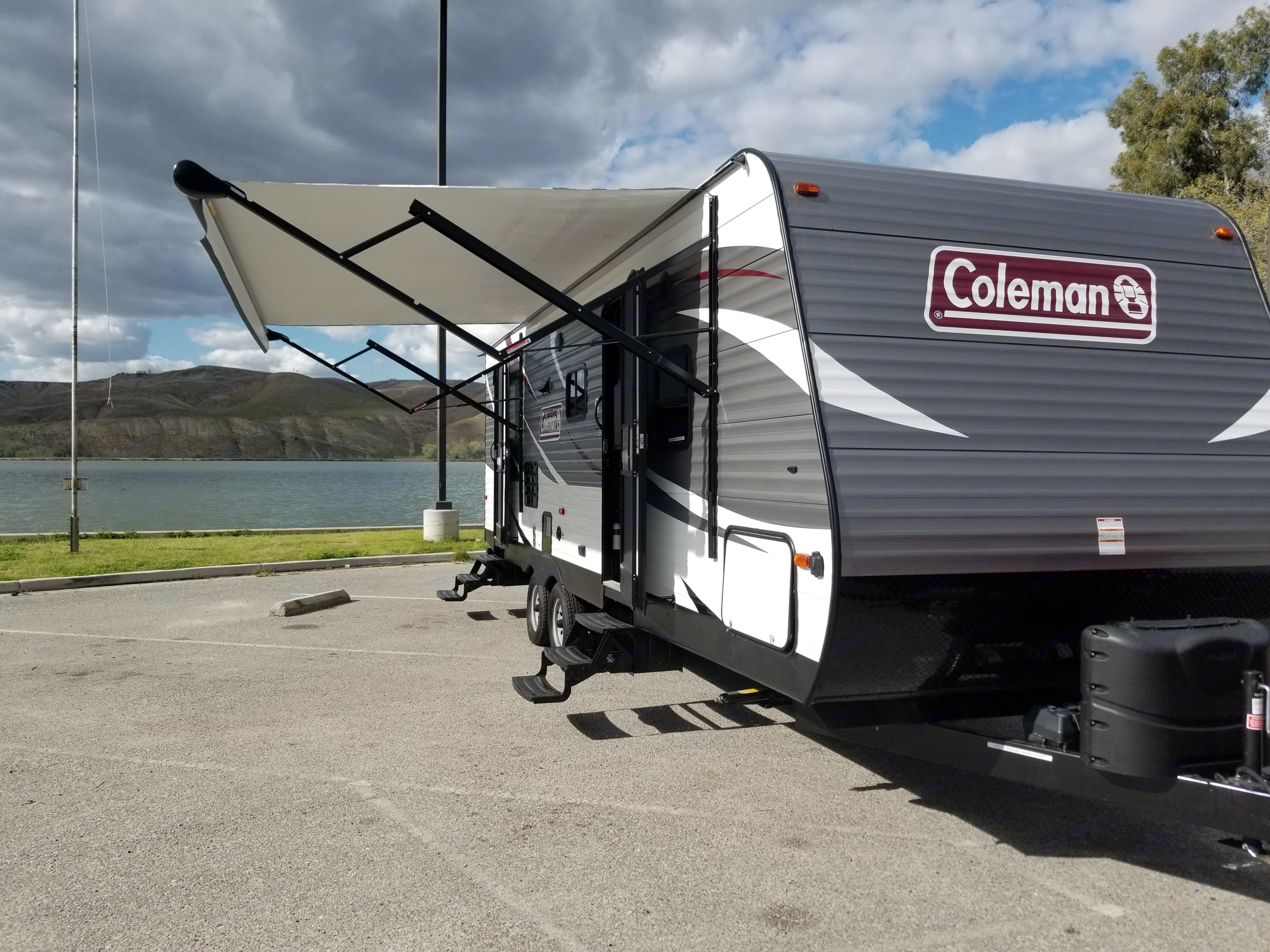 power awning with LED lighting. Coleman Other 2018
