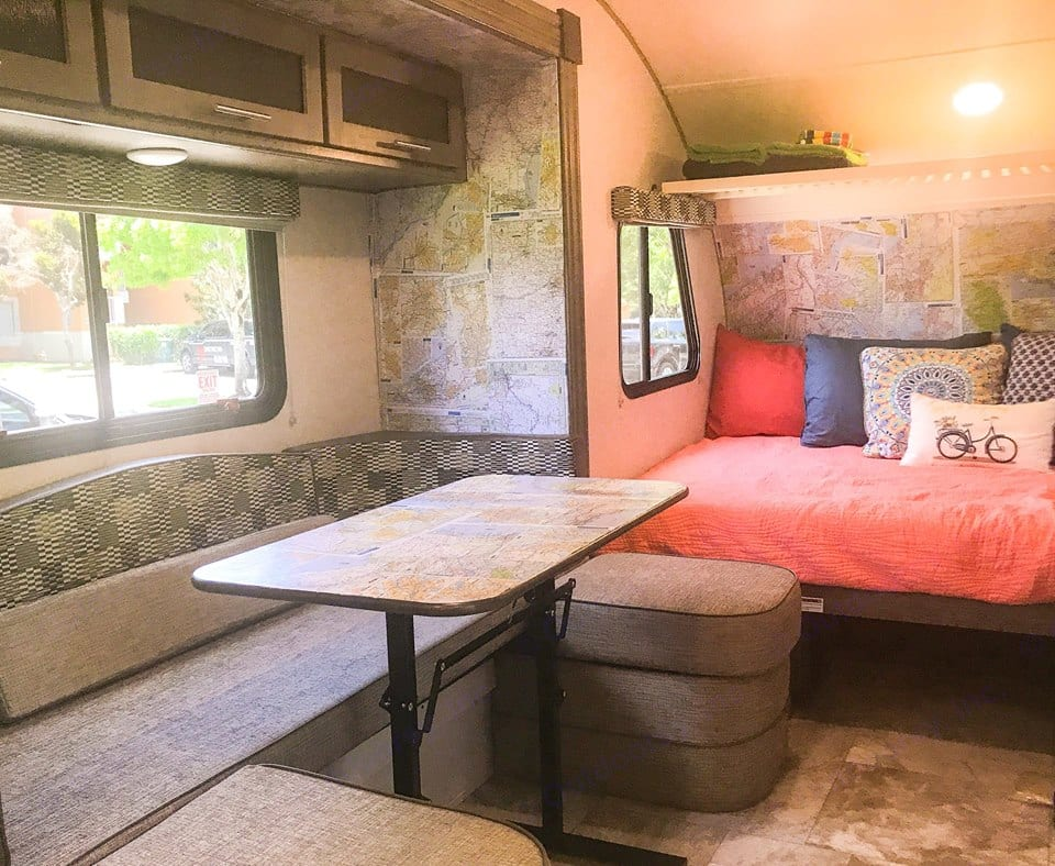 Get ideas for where to go next by just looking at the walls and plan your adventure!!. Forest River R-Pod 2018