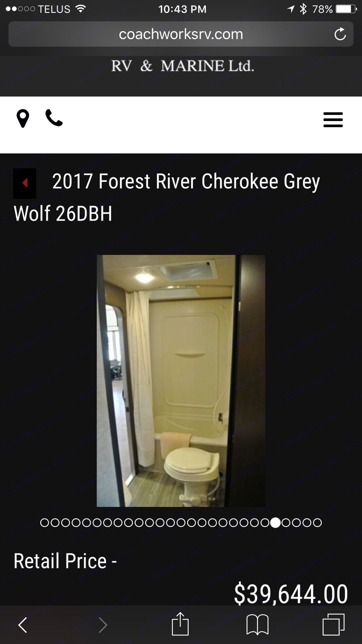 Forest River Cherokee Grey Wolf 2018