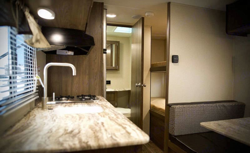 Rear view with bunks and bathroom. Riverside Rv Dream 175BH 2018