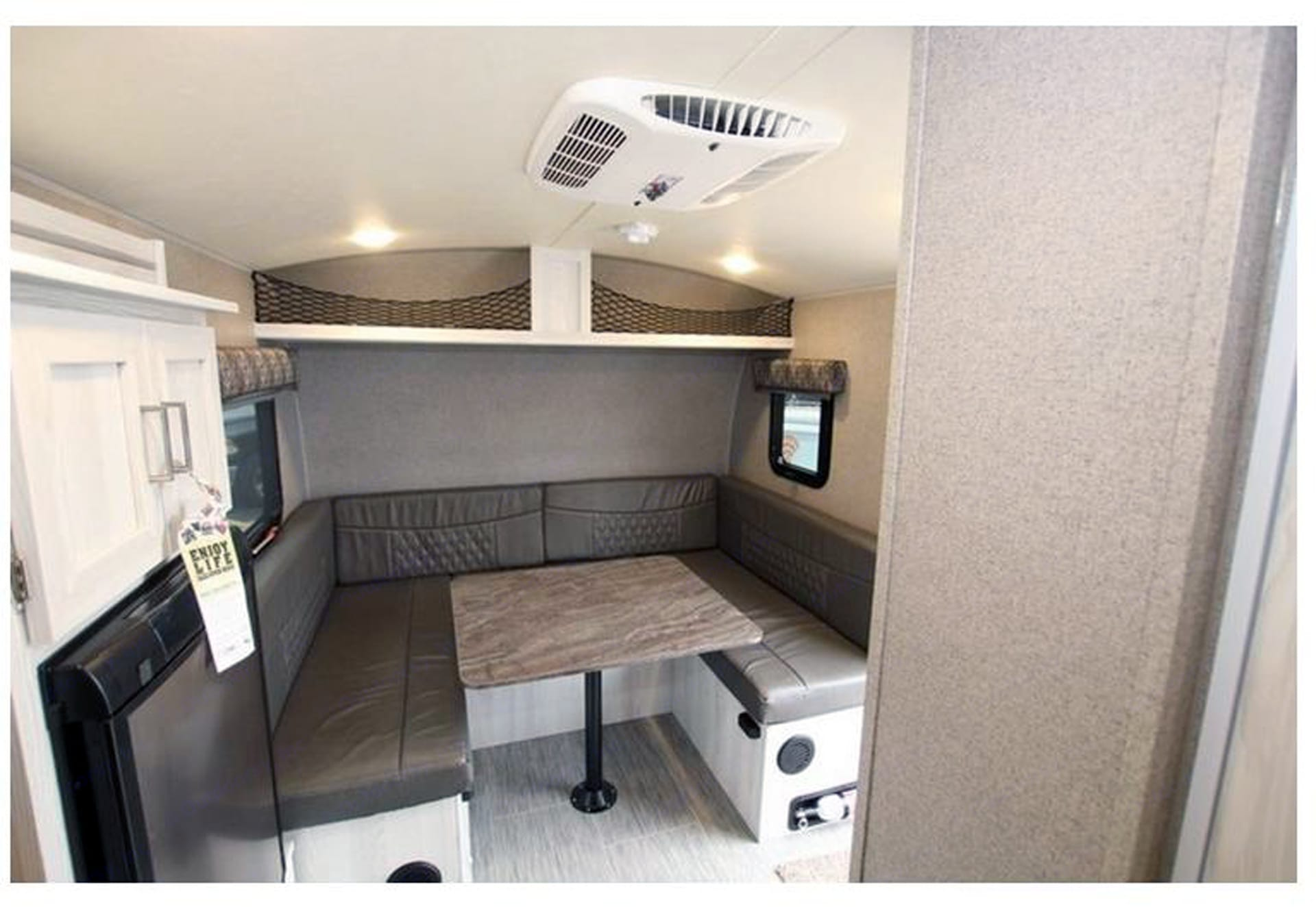 Front view with large, u-shaped dinette. Flagstaff E-Pro E16BH 2018
