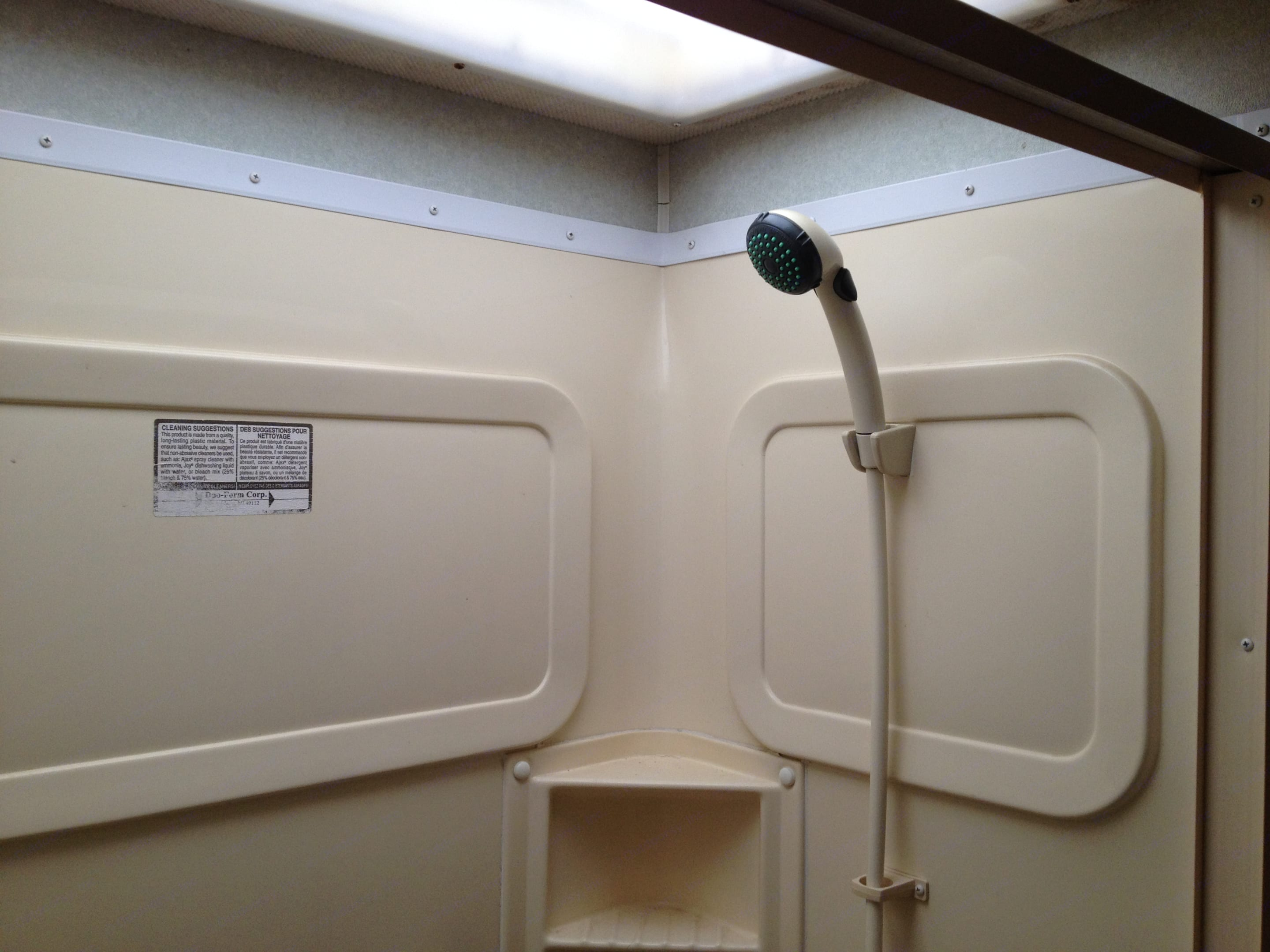 Shower with a skylight.. Fleetwood Bounder 2001