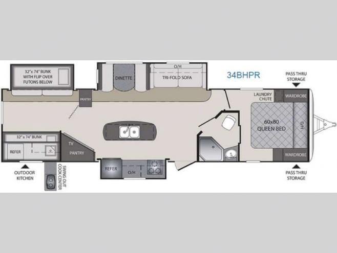 Floorplan. Keystone Bullet Premier 2016