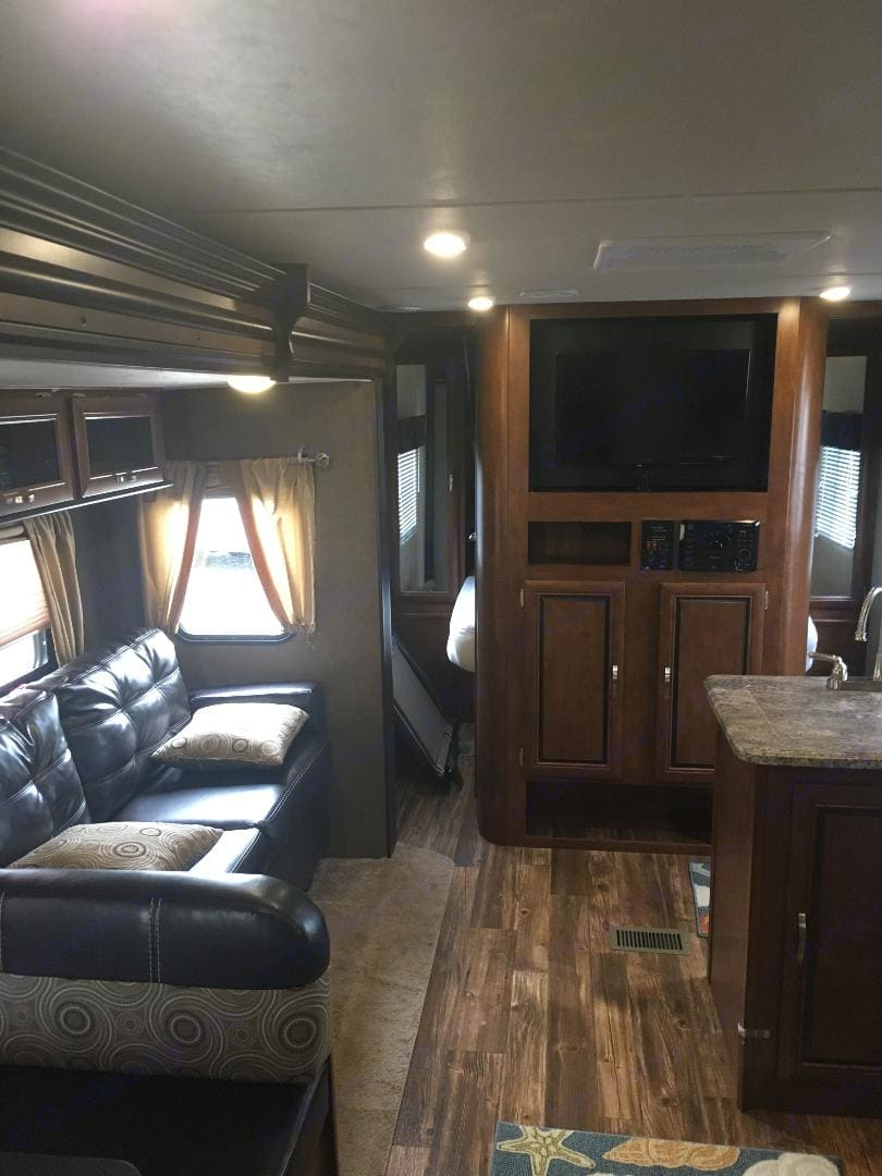 Very comfortable and beautiful interior space. . Forest River Vibe 2016