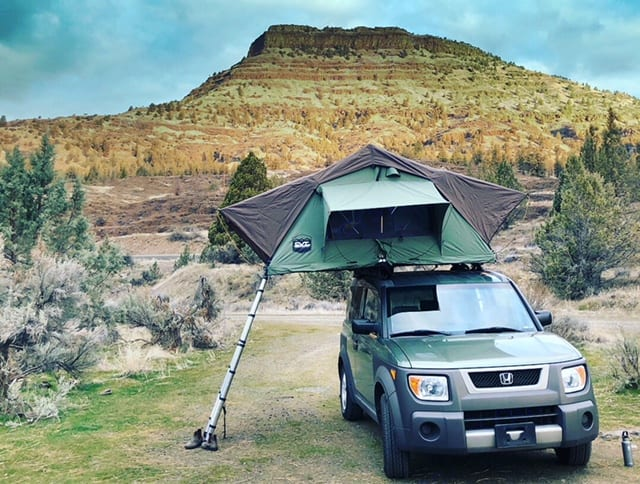 The CVT Rooftop Tent expands for ample room!. Honda Tent on Top 2003