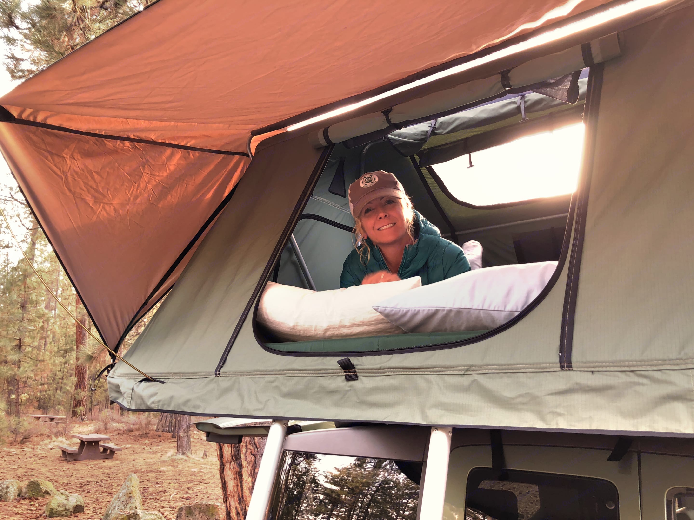 The perfect place to cozy up after a long day of adventures!. Honda Tent on Top 2003