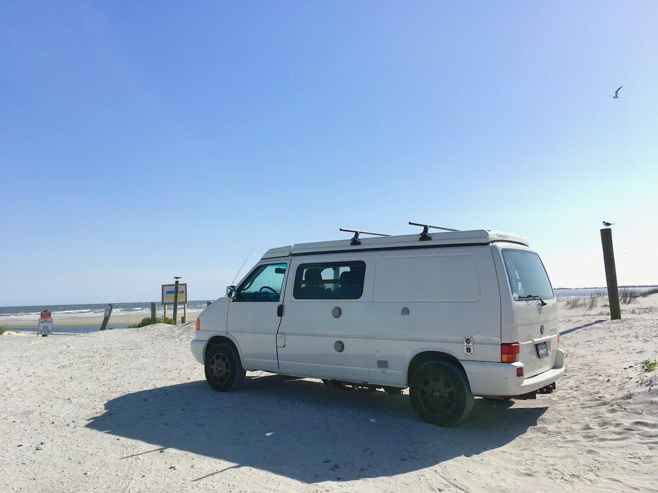 Perfect for a day at Folly Beach County Park near Charleston. . Winnebago Eurovan Camper Eurovan Camper 2003