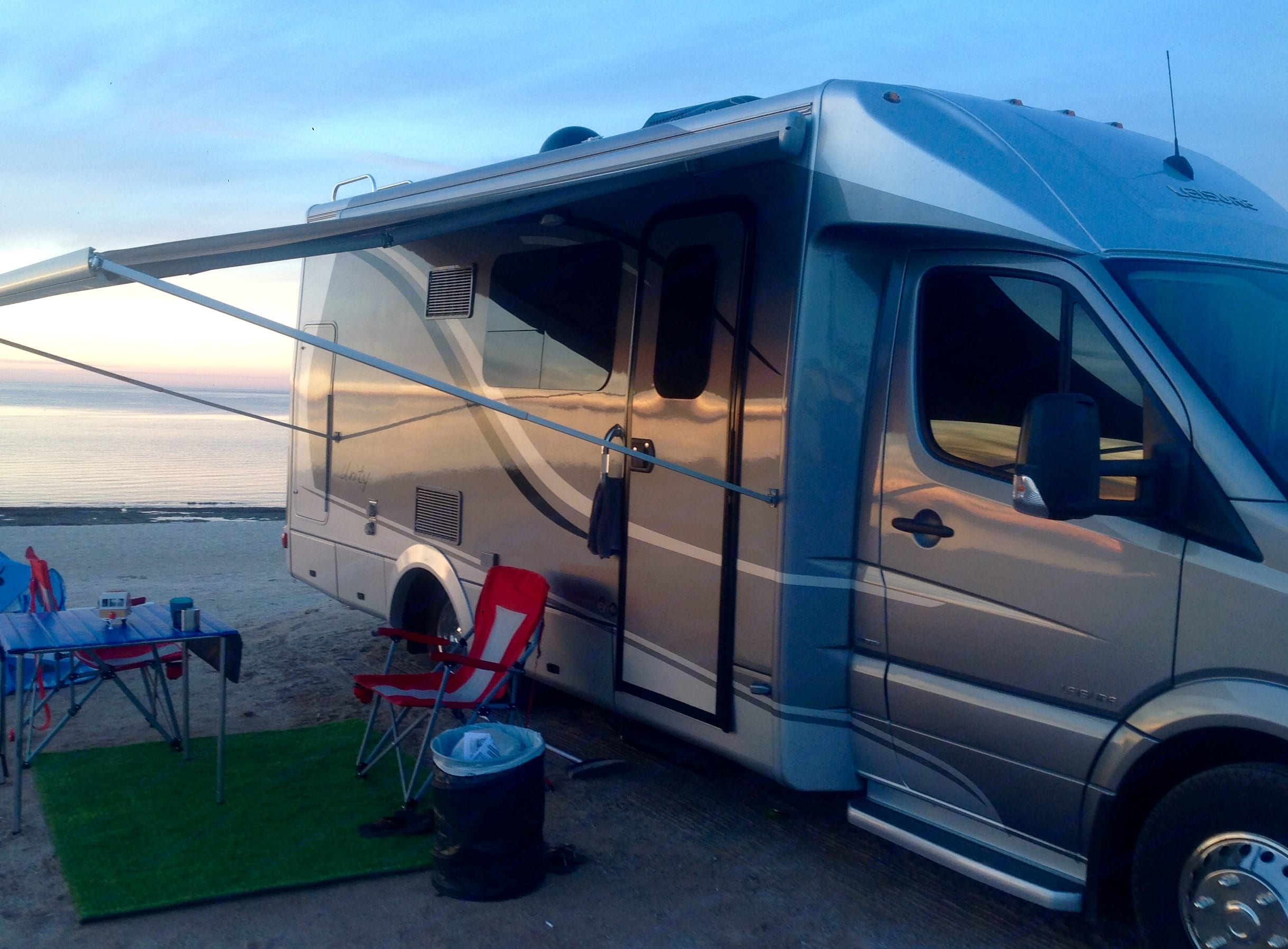Camping on the beach in Southern California.. Leisure Travel Unity 2014