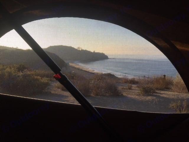 View from the Pop Top. Volkswagen Winnebago 2000