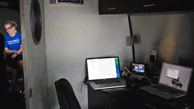 Production space for media producers. Airstream Pan America 2009
