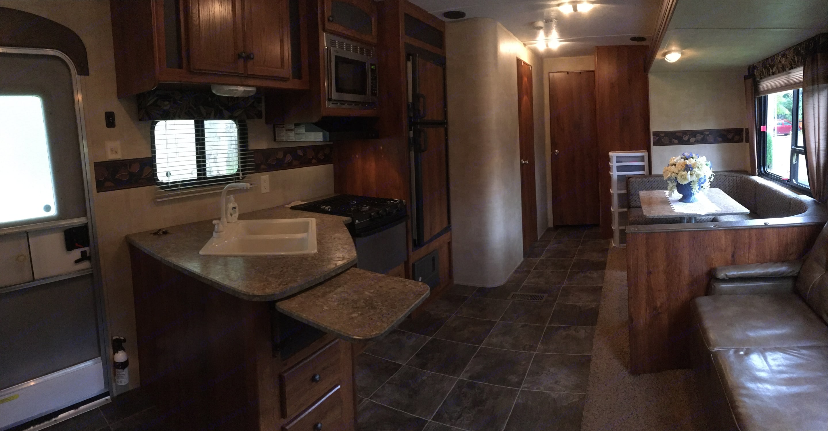 Large fully equipped kitchen. . Jayco Hideout 2013