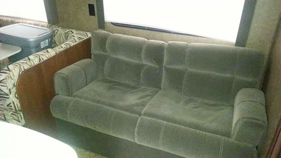 Love seat. Folds out to bed.. Jayco Jay Flight Swift 2014