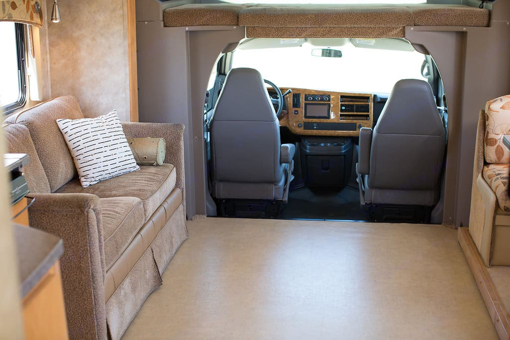 """Our daughters call this the """"dancefloor"""".  With the slides out there is a mind-blowing amount of room.. Gulf Stream B Touring Cruiser 2009"""