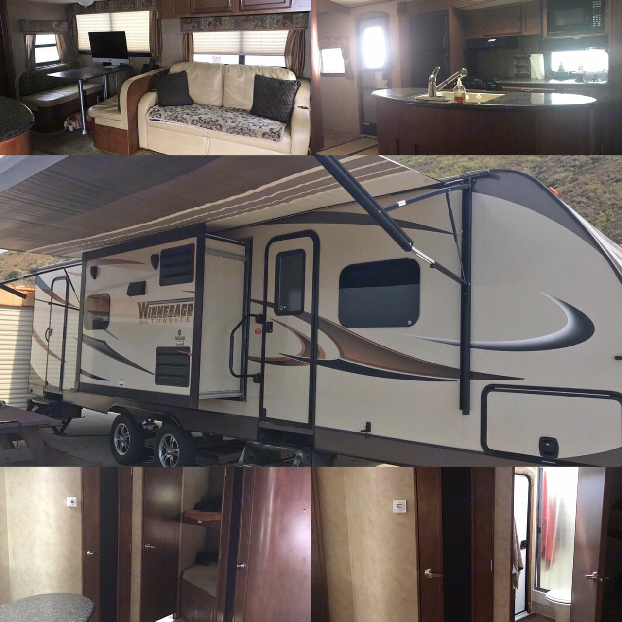 travel trailer must be hauled by truck not included for travel can be delivered to set location and picked up. Winnebago Ultralite 2013