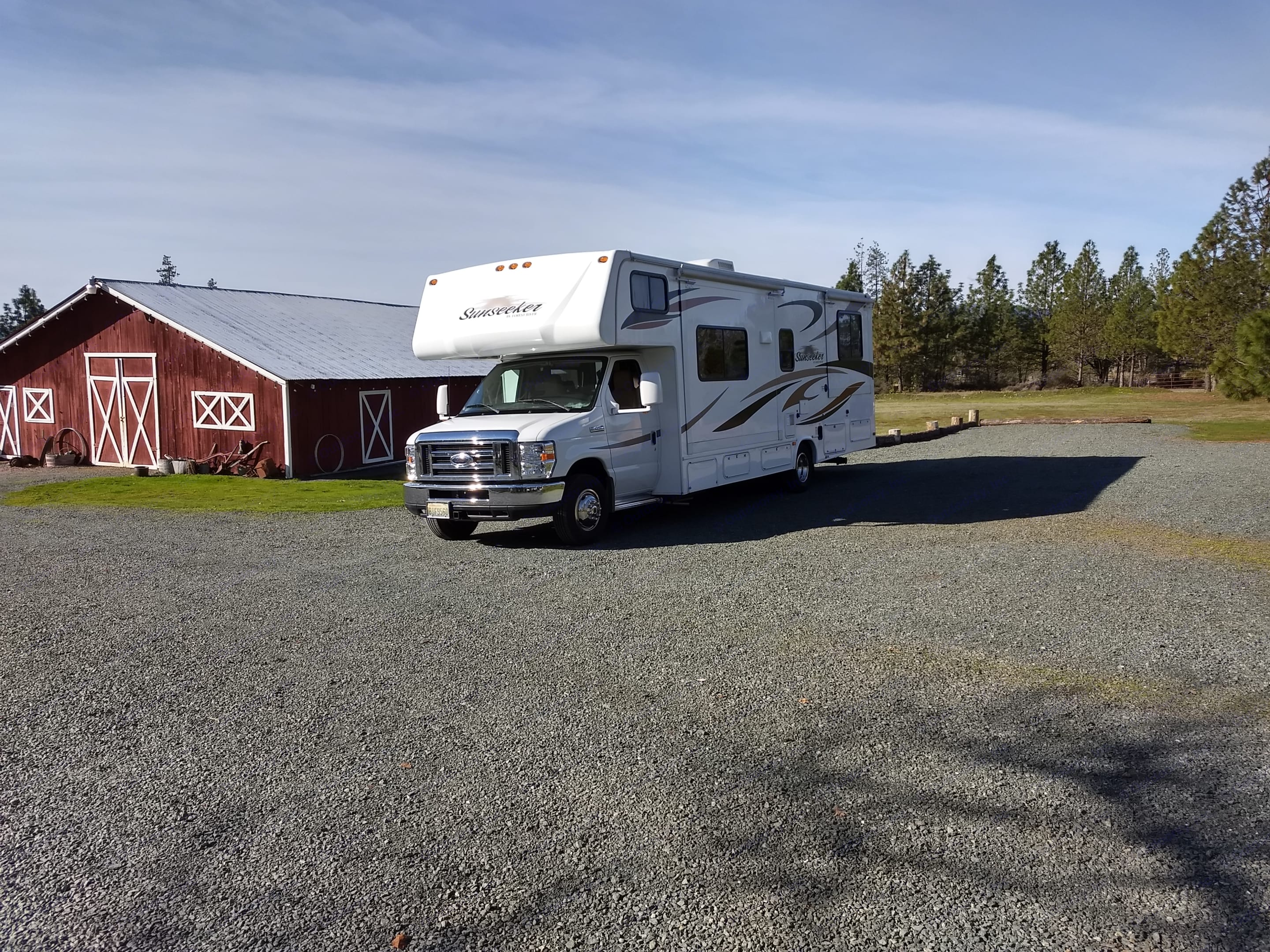 Beautiful time at Grants Pass KOA, Grants Pass, OR. Forest River Sunseeker 2013