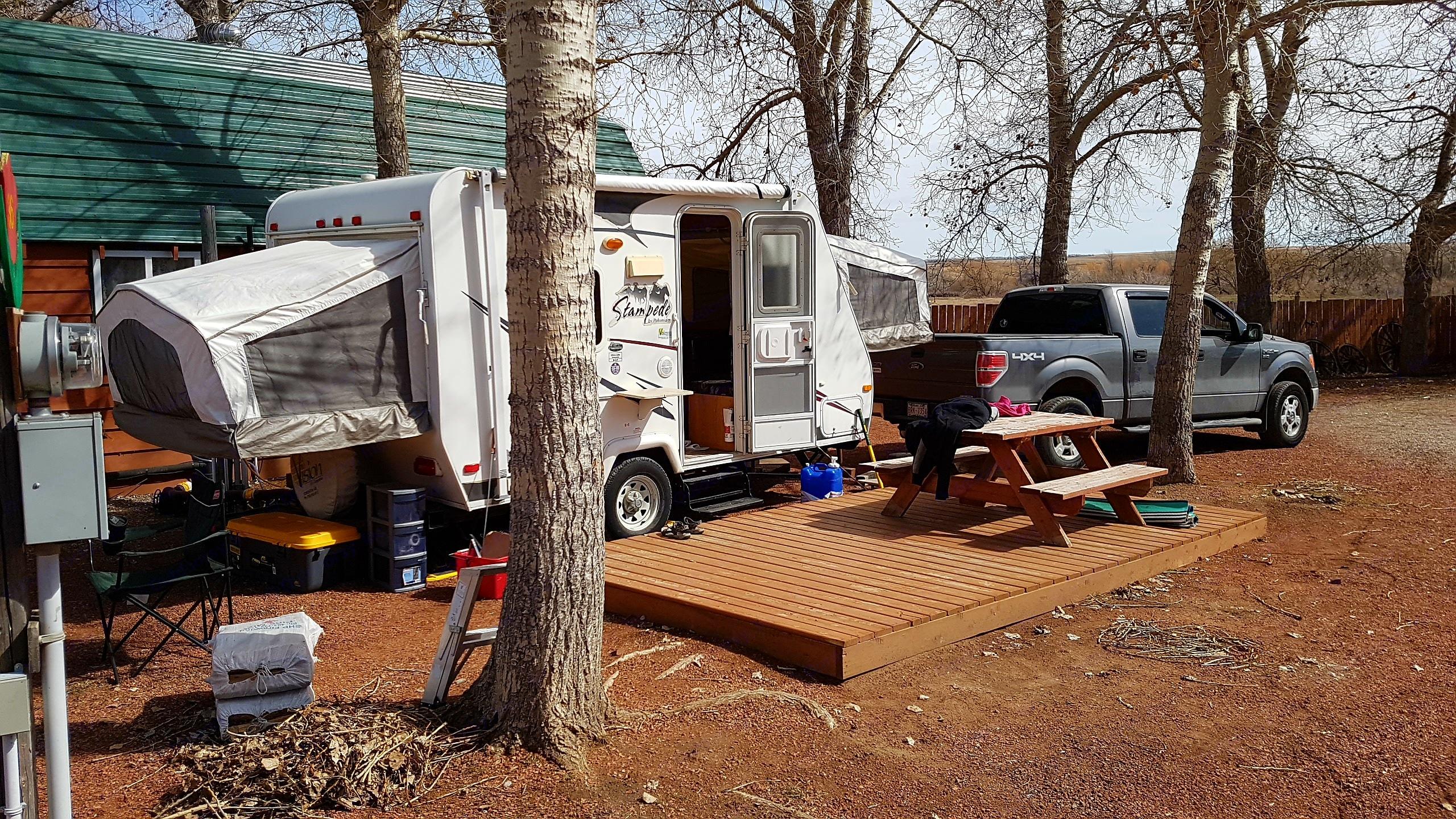 Camping last year . Palomino Stampede 2008