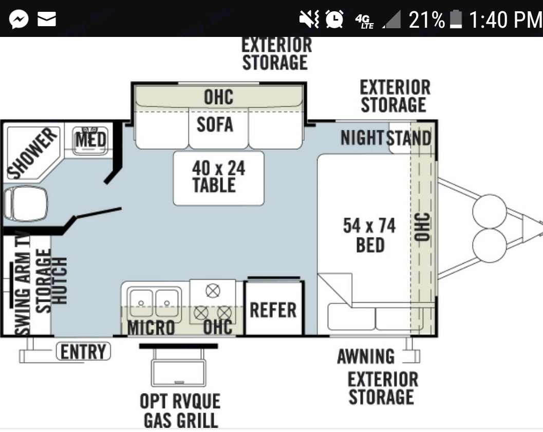 Comfortable, roomy open floor plan.. Forest River Micro-Lite 2013