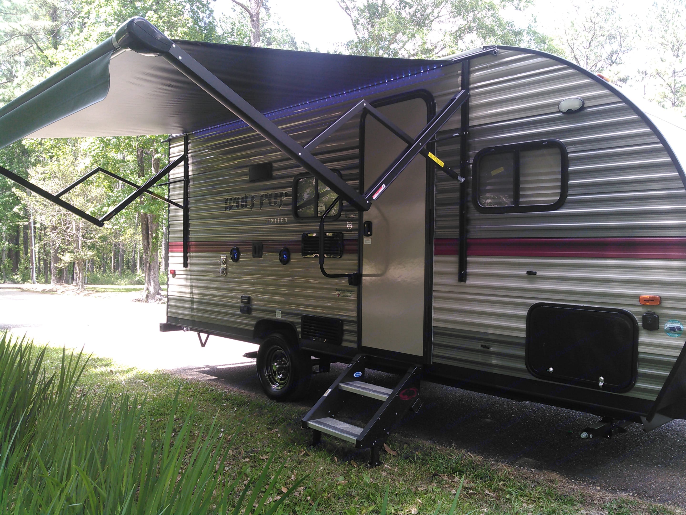 Electric retractable awning.. Forest River Cherokee Wolf Pup 2018