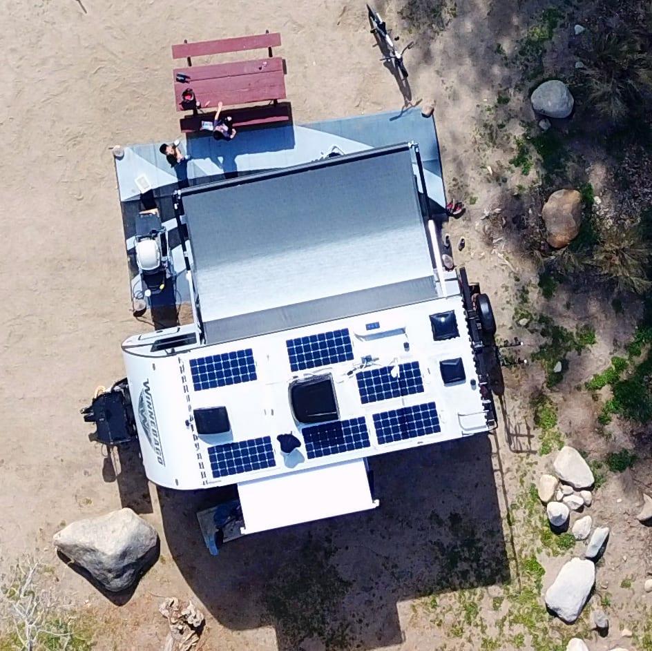 Drone view. Winnebago Micro Minnie 2018