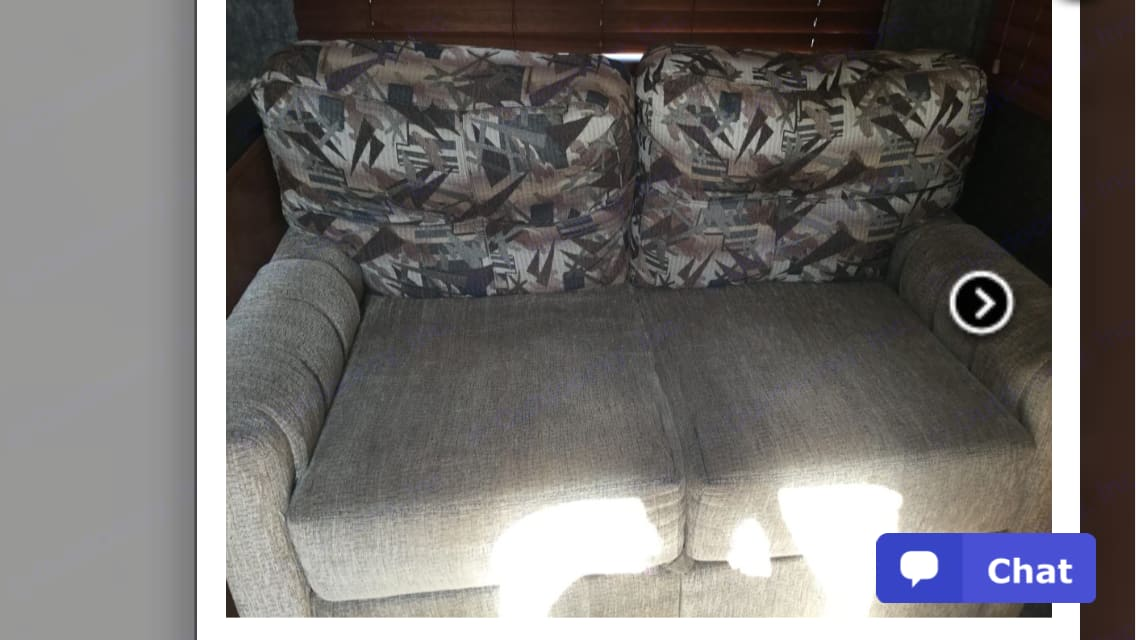 Sofa converts to double bed.. Forest River Cherokee 2014