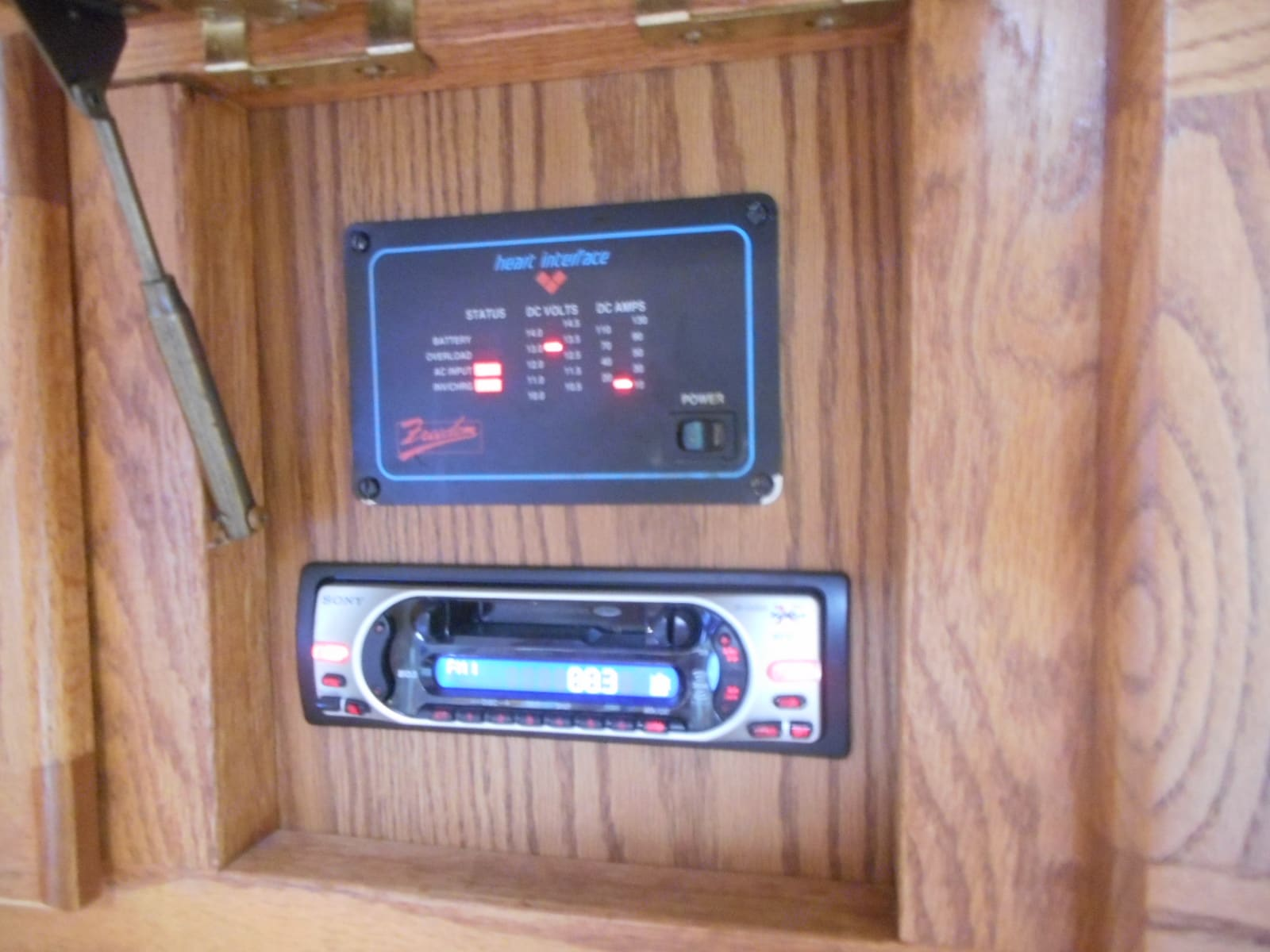 Solar Electric panel and stereo. Airstream Classic 1996