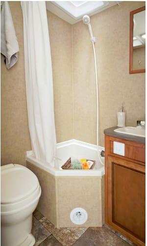 Bathroom. Jayco Jay Feather Ultra Lite X23B 2013