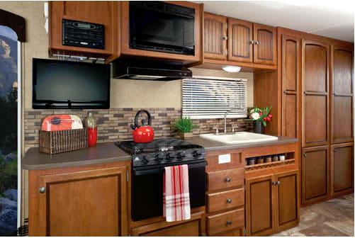 Kitchen. Jayco Jay Feather Ultra Lite X23B 2013