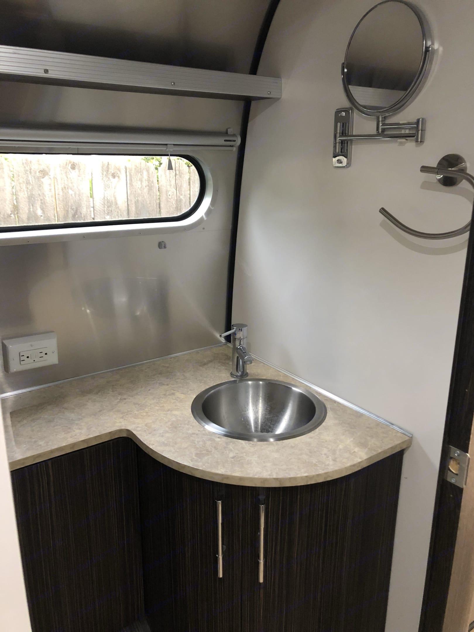Bathroom sink. Airstream International 2014