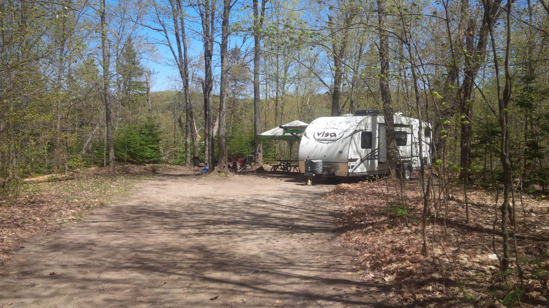 Site 222 at Algonquin Park Canisbay Lake Campground.. Gulf Stream Visa 2013