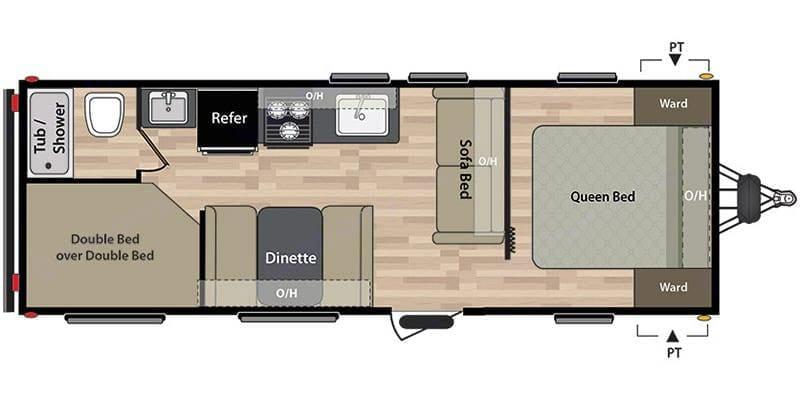 This is our floor plan. Keystone Springdale 2018