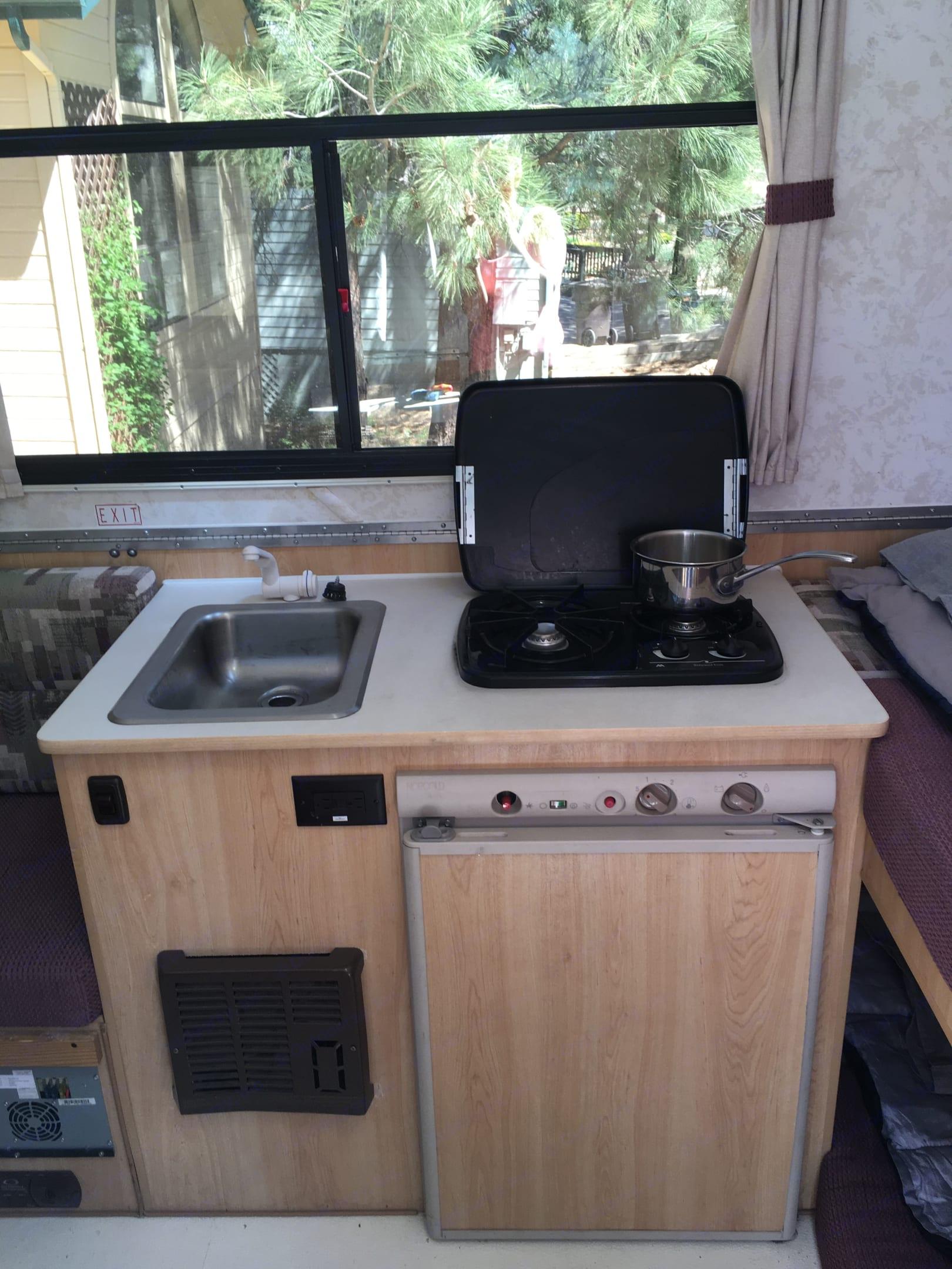 Kitchen. ChaletRv A-Frame 2005