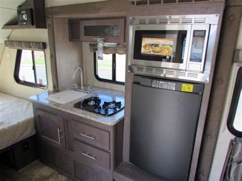 Fully stocked kitchen. Just bring food! . Forest River R-Pod 2015