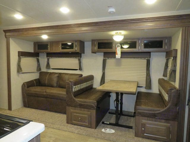 Spacious interior with Super Slide extended. Rockwood Roo 21SS 2018