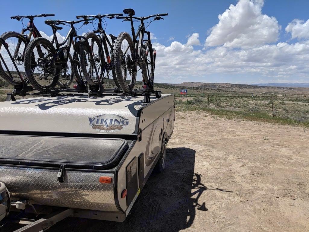 Loaded up for some mountain biking at the Utah/Colorado border. Viking 2308st 2016