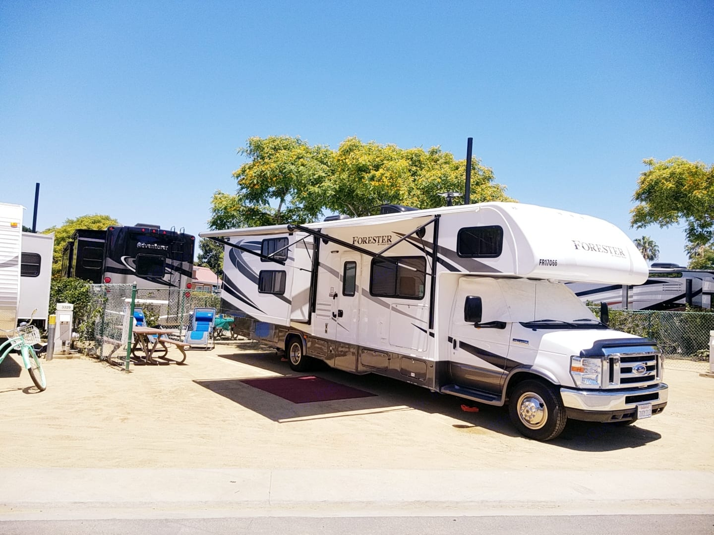 The RV was delivered and set up at a local campground called Newport Dunes RV Resort. All you have to do is show up!. Forrest River Forrester 2017