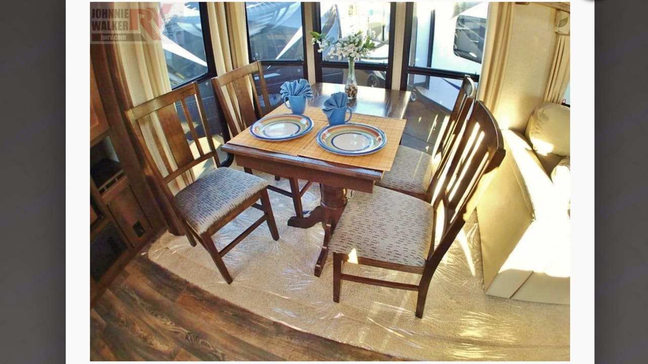 Dining room table sits four comfortably!. Forest River Wildcat 2017