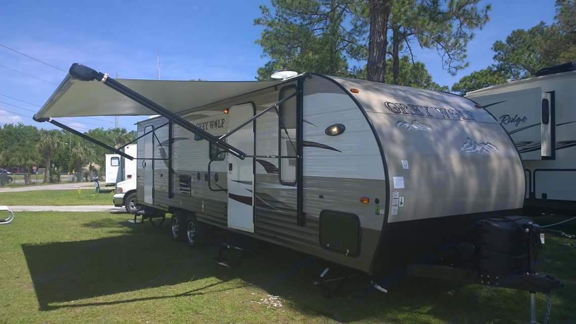This is a photo of the first time we used the trailer at a camping park in Orlando, Florida. It is the limited edition which includes all the bells and whistles to make for an exceptional experience.. Forest River Other 2015