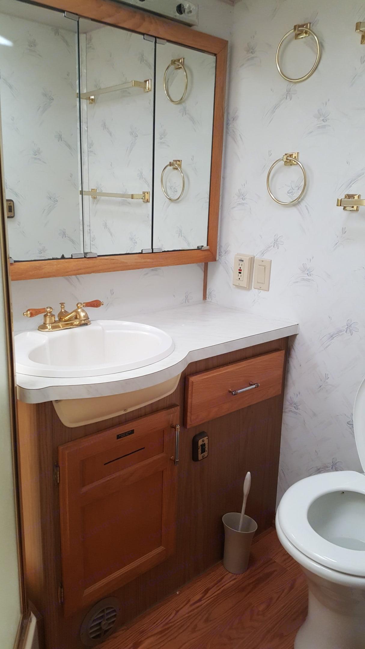 Bathroom . Fleetwood Pace Arrow 1996